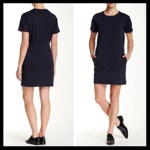 theory // zissia navy blue t-shirt tee dress NWT